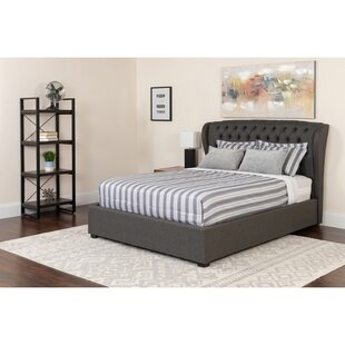 Where buy  Angie Tufted Upholstered Platform Bed Mattress by Alcott Hill Reviews (2019) & Buyer's Guide