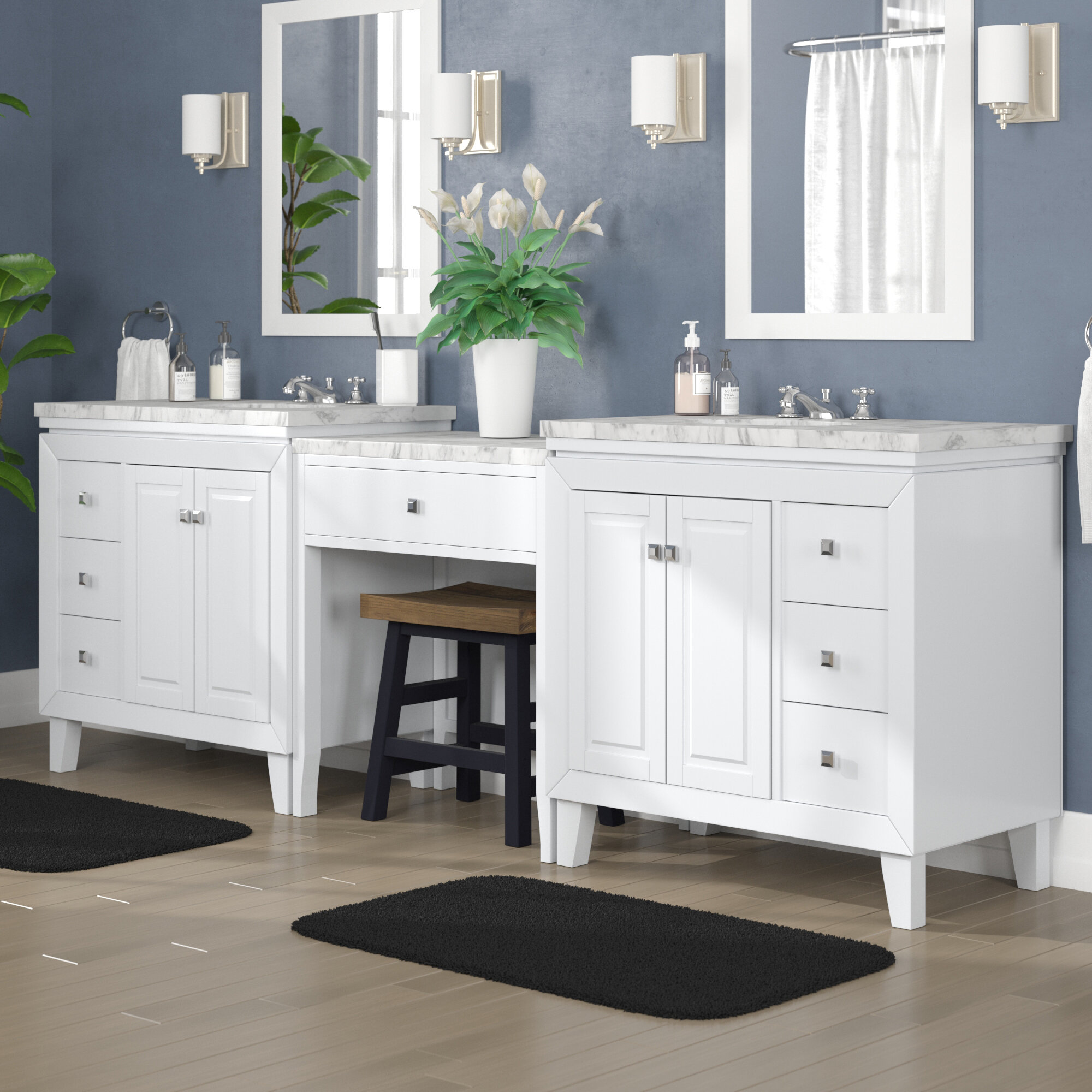 Alcott Hill Reynolds 103 Transitional Double Bathroom Vanity Set Reviews Wayfair