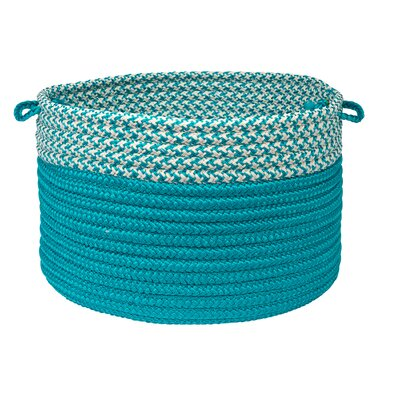 Brayden Studio Ariadne Dipped Basket Size: 14 H x 24 W x 24 D, Color: Turquoise