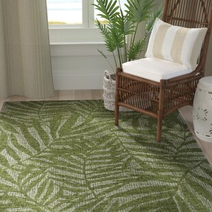 Claremont Olive Branches Hand-Woven Wool Green Area Rug byBay Isle Home