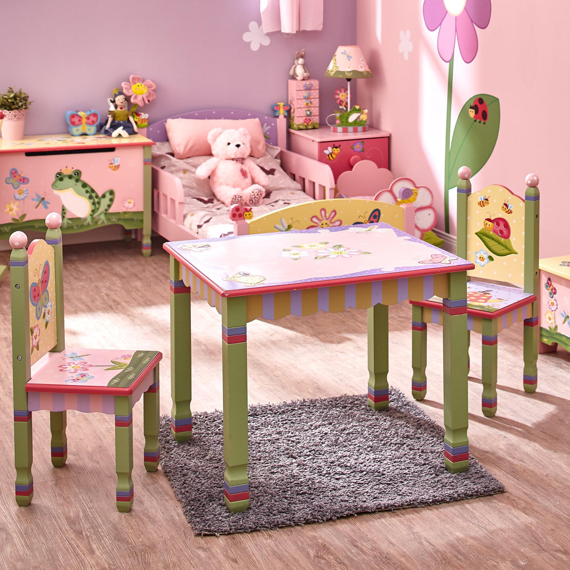 Fantasy Fields Magic Garden Kids 3 Piece Table Chair Set Reviews Wayfair
