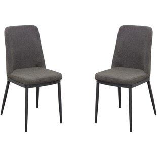 Thiago Upholstered Dining Chair (Set Of 2) by Brayden Studio 2019 Sale