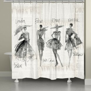 Chenango Fashion Sketchbook Single Shower Curtain