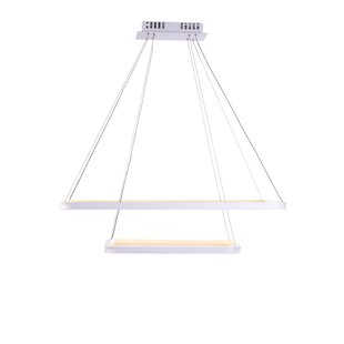 Rosborough 2-Lights Geometric Chandelier by Orren Ellis
