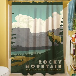 Affordable Rocky Mountain National Park Shower Curtain By Manual Woodworkers & Weavers