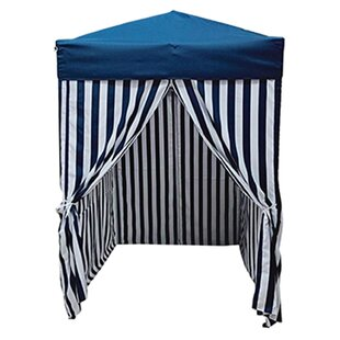 Stripe Pool Cabana 5 Ft. W x 5 Ft. D Steel Pop-Up Canopy by LB International