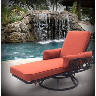 Pineville Swivel Chaise Lounge with Cushion