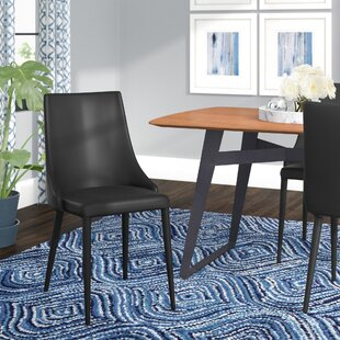 Compare Sherwood Bi-cast Leather Upholstered Dining Chair (Set of 2) by Langley Street Reviews (2019) & Buyer's Guide