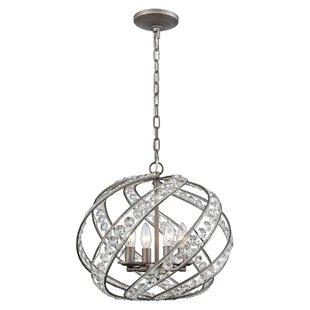 Rosdorf Park Jaidan 4-Light Globe Chandelier