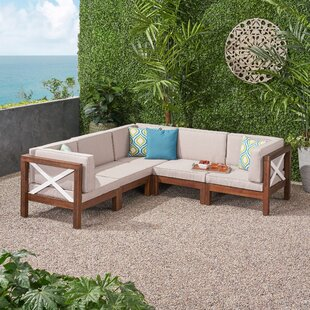Augus Outdoor Patio Sectional With Cushion By Breakwater Bay