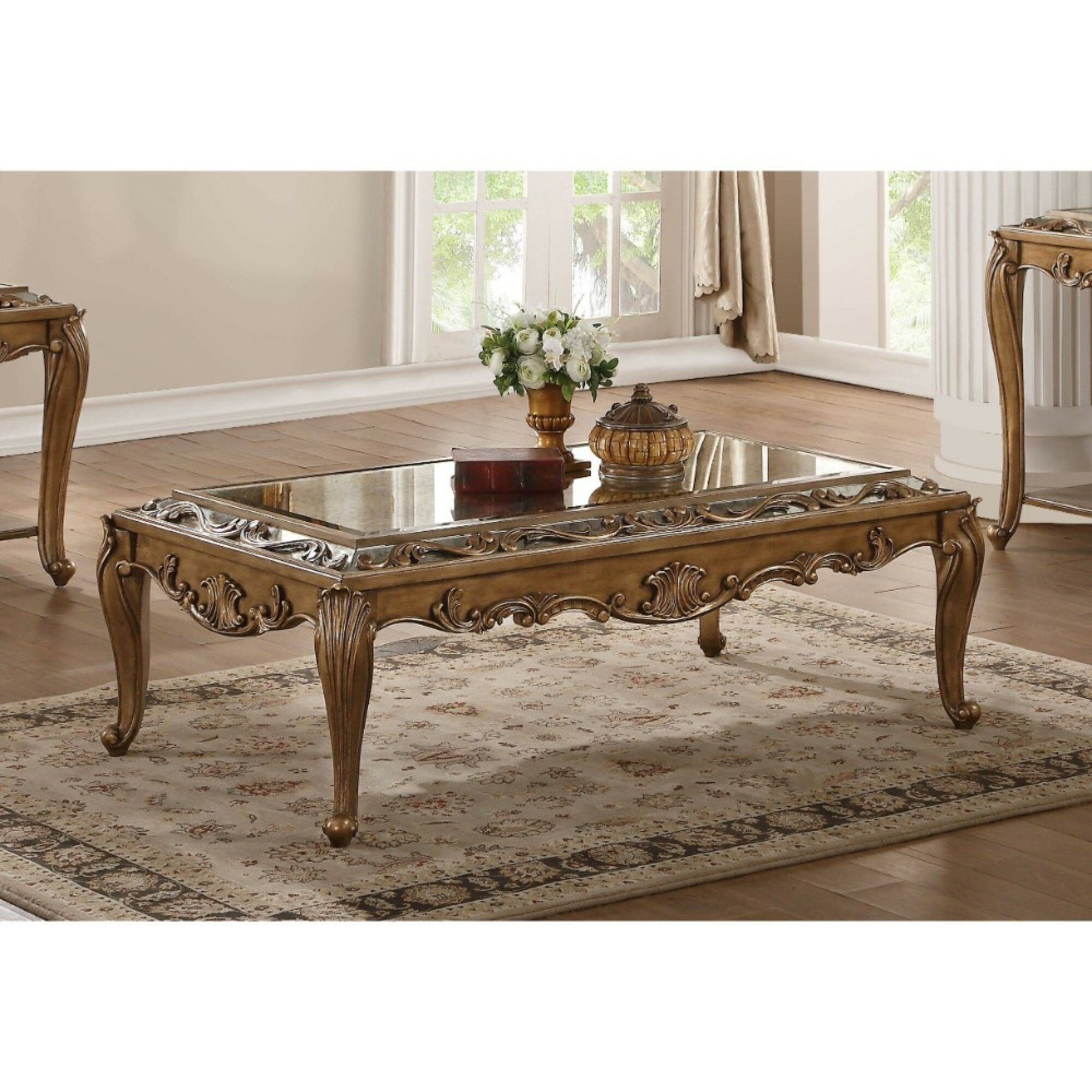 - Astoria Grand Annis Traditional Rectangular Wooden Coffee Table