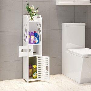 Bathroom Multi Compartment 8 W x 32 H Linen Tower