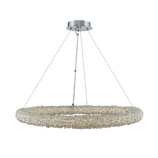 Rollingwood 1-Light Crystal Pendant by Everly Quinn