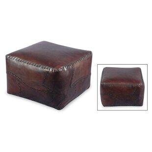 Atlantic Leather Ottoman Slipcover By Loon Peak