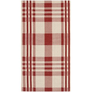 Laurel Red Indoor/Outdoor Area Rug by August Grove #2