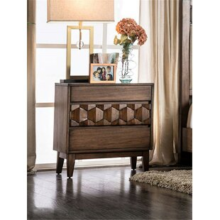 Amirah 3 Drawer Nightstand
