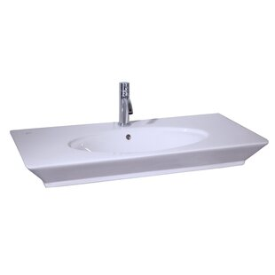 Great choice Opulence Above Counter Basin Rectangular Vessel Bathroom Sink with Overflow By Barclay