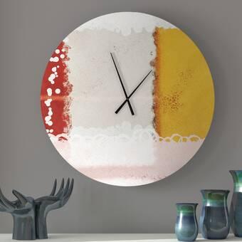 Ebern Designs Dedicated Sublime Abstract Wall Clock Wayfair