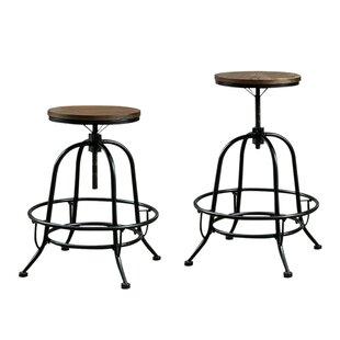 Weber Adjustable Height Bar Stool (Set of 2) by Gracie Oaks