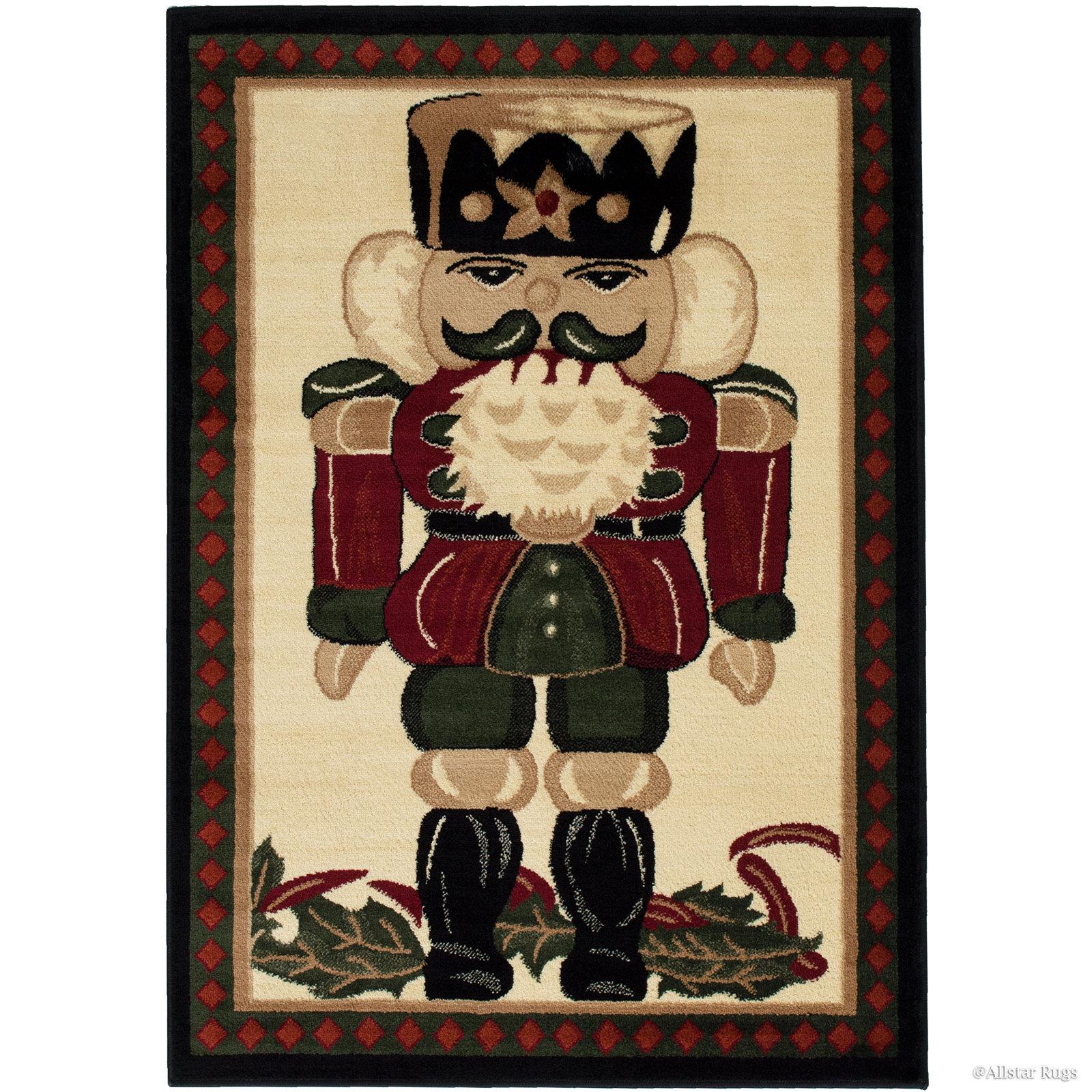 The Holiday Aisle Holiday Christmas Nutcracker Power Loom Red Rug Reviews Wayfair