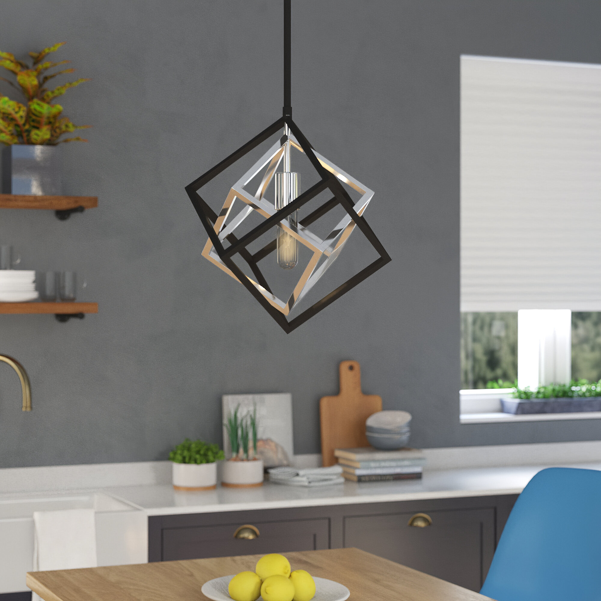 Chrome Geometric Pendant Lighting You Ll Love In 2021 Wayfair