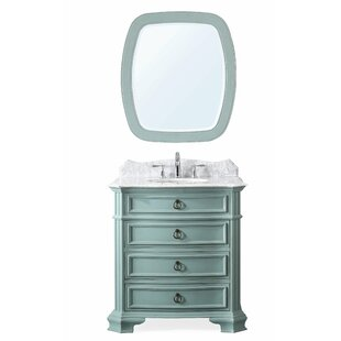 League 32 Single Bathroom Vanity Set with Mirror By Charlton Home