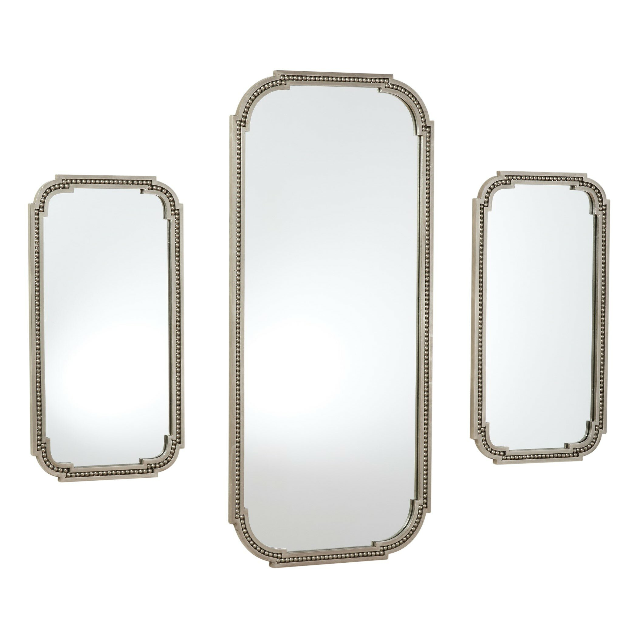 Global Views Forged Pearl Traditional Venetian Accent Mirror Wayfair