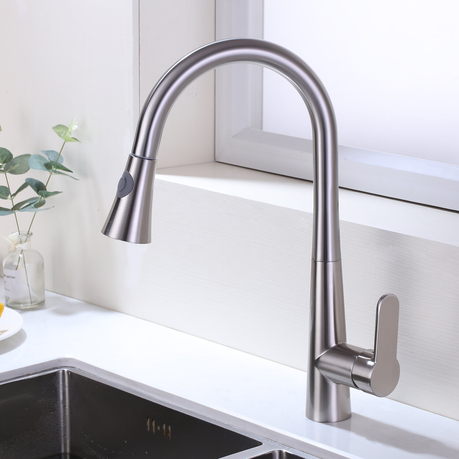 Kbp Home Pull Out Single Handle Kitchen Faucet Wayfair