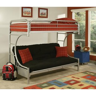 Kelm Metal Tube Twin Futon Bunk Bed by Zoomie Kids Design