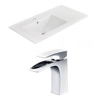 1 Hole Ceramic 36 Single Bathroom Vanity Top By American Imaginations