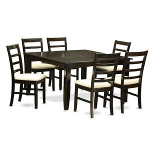 Parfait 7 Piece Dining Set by Wooden Importers Spacial Price