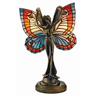 Design Toscano Butterfly Fairy Tiffany Style Stained Glass 19