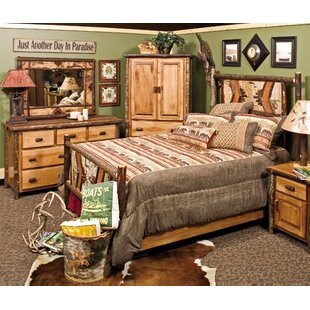Fireside Lodge Hickory Adirondack Panel Bed