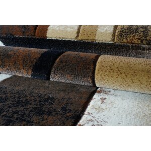 Collier Brown/Black Area Rug