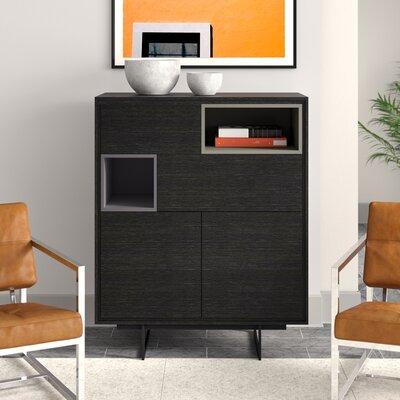 """Upper Square Vasilisa 37"""" Wide 3 Drawer Highboard  Color: Gray Oak"""