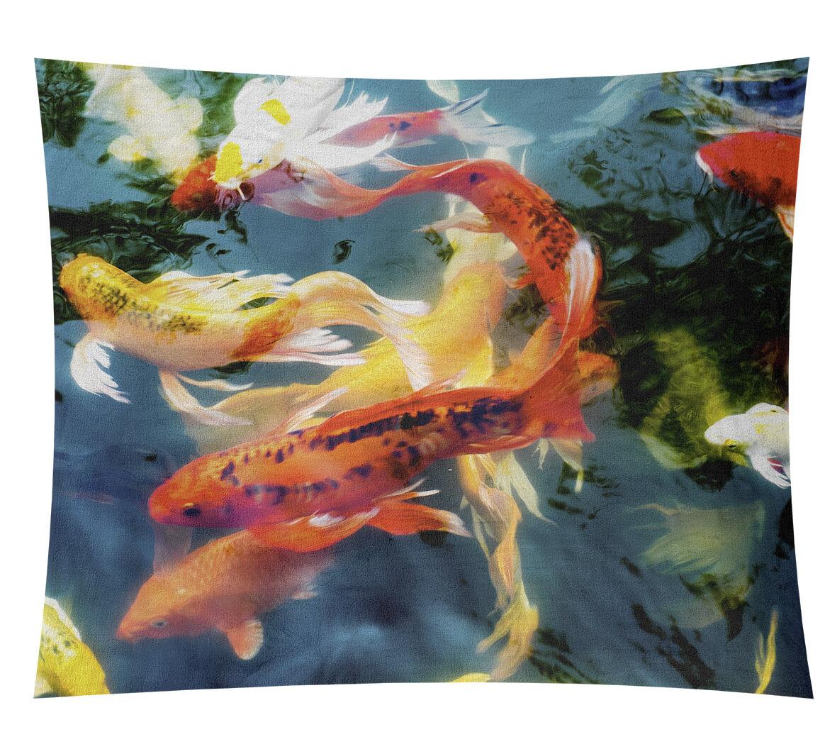 World Menagerie Bourbeau Koi Pond Tapestry Wayfair