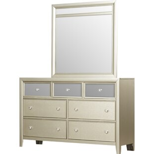 Gottfried 7 Drawer Dresser with Mirror