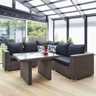 Alicante 5 Seater Rattan Corner Sofa Set By Sol 72 Outdoor