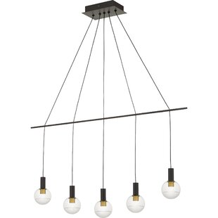 Wrought Studio Theodora 5-Light LED Shaded Chandelier