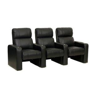 Latitude Run Contemporary Home Theater Row Seating (Row of 3)