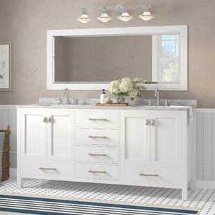 Pichardo 78 inch  Transitional Double Bathroom Vanity Set
