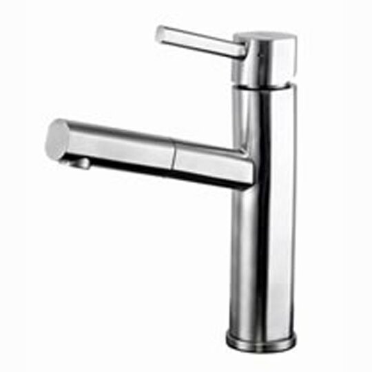 Elegant Single Handle Single Hole Low Profile Pull Out Kitchen Faucet