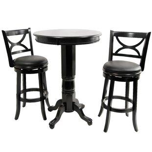 Affordable Burr Pub Table Set ByThree Posts