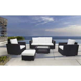 Ptolemy 5 Piece Rattan Sofa Seating Group with Cushions