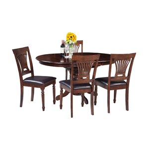 Maryrose 5 Piece Solid Wood Dining Set by..