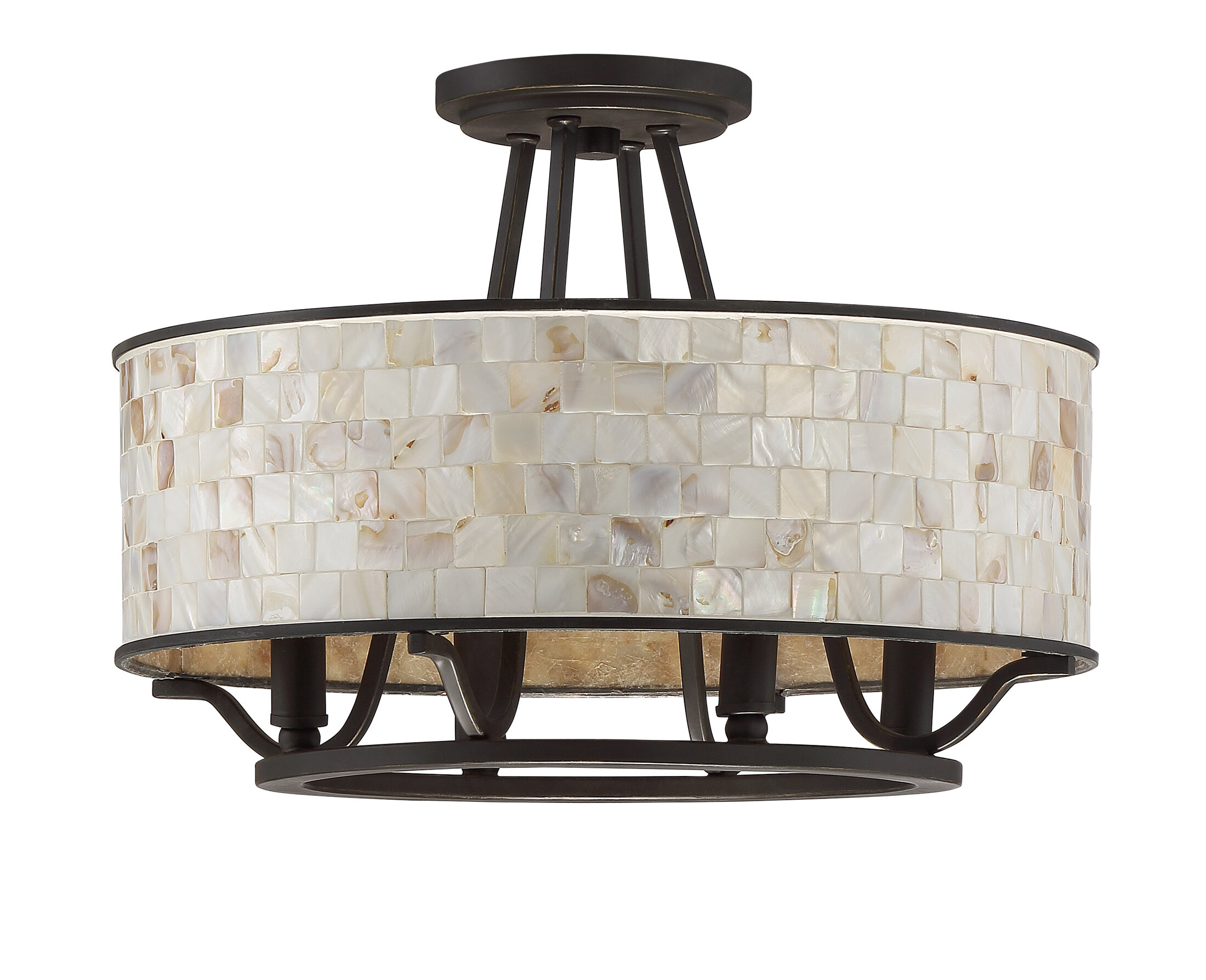 Bay Isle Home Eddington 4-Light Semi Flush Mount & Reviews | Wayfair