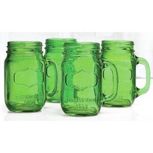 Hauptstueck 17.5 oz. Glass Mason Jar (Set of 4)