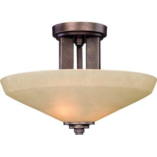 Sherwood 2-Light Semi Flush Mo..