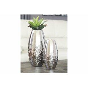 Glass 2 Piece Table Vase Set