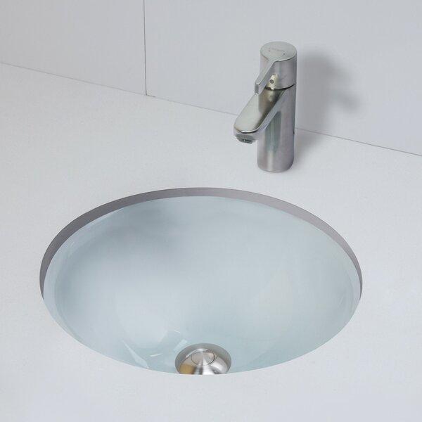 Decolav Terra Translucence Glass Circular Drop In Bathroom Sink Reviews Wayfair
